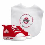 Ohio State Buckeyes Infant Bib & Shoes Gift Set