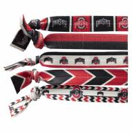 Ohio State Buckeyes Knotted Hair Tie