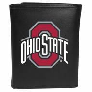 Ohio State Buckeyes Large Logo Leather Tri-fold Wallet