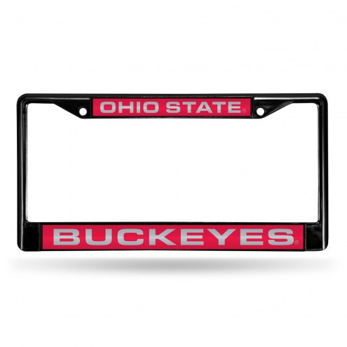 Ohio State Buckeyes Laser Black License Plate Frame