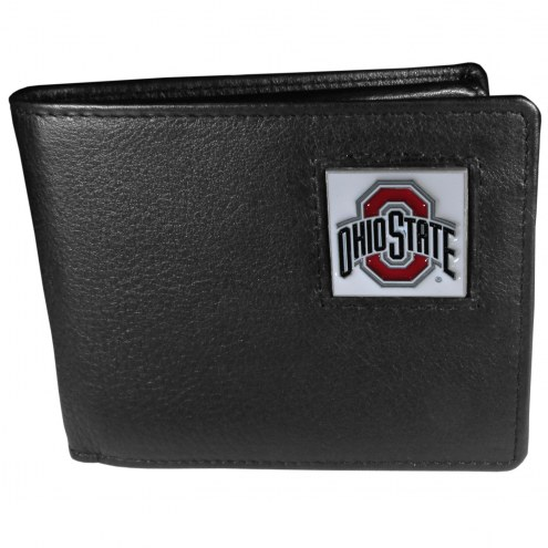 Ohio State Buckeyes Leather Bi-fold Wallet