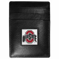 Ohio State Buckeyes Leather Money Clip/Cardholder in Gift Box