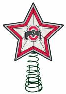 Ohio State Buckeyes Light Up Art Glass Tree Topper