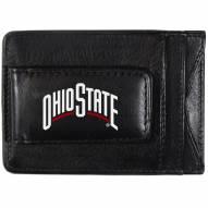 Ohio State Buckeyes Logo Leather Cash and Cardholder