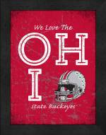 Ohio State Buckeyes Love My Team Vertical Color Wall Decor