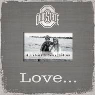 Ohio State Buckeyes Love Picture Frame