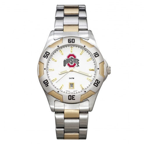Ohio State Buckeyes Men's All-Pro Two-Tone Watch