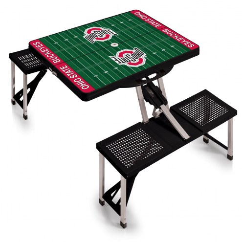 Ohio State Buckeyes NCAA Black Sports Folding Picnic Table