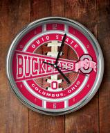 Ohio State Buckeyes NCAA Chrome Wall Clock