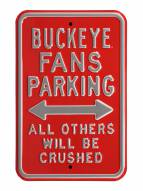 Ohio State Buckeyes NCAA Embossed Parking Sign