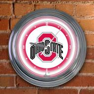 Ohio State Buckeyes NCAA Neon Wall Clock