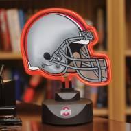 Ohio State Buckeyes Neon Helmet Desk Lamp
