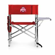 Ohio State Buckeyes NCAA Red Sports Folding Chair