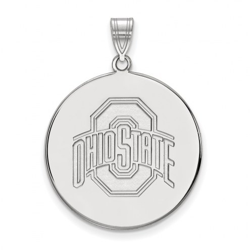 Ohio State Buckeyes Sterling Silver Extra Large Disc Pendant