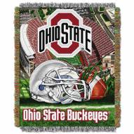 Ohio State Buckeyes NCAA Woven Tapestry Throw / Blanket