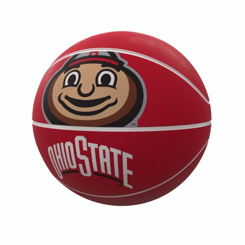 Ohio State Buckeyes Official Size Rubber Basketball