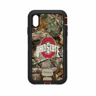 Ohio State Buckeyes OtterBox iPhone XS Max Defender Realtree Camo Case