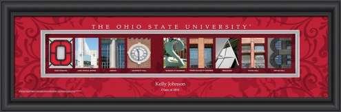 Ohio State Buckeyes Personalized Campus Letter Art