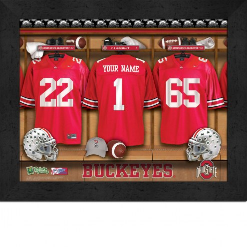 Ohio State Buckeyes Personalized 11 x 14 Framed Photograph