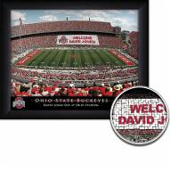 Ohio State Buckeyes 11 x 14 Personalized Framed Stadium Print