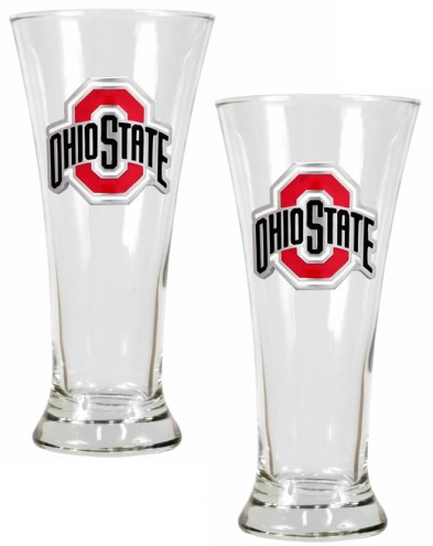 Ohio State Buckeyes College 2-Piece Pilsner Glass Set