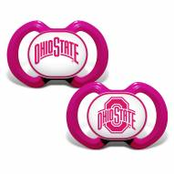 Ohio State Buckeyes Pink Baby Pacifier 2-Pack
