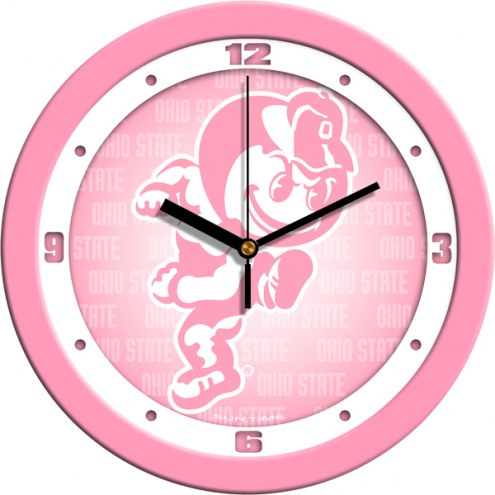 Ohio State Buckeyes Pink Wall Clock