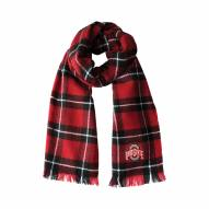 Ohio State Buckeyes Plaid Blanket Scarf