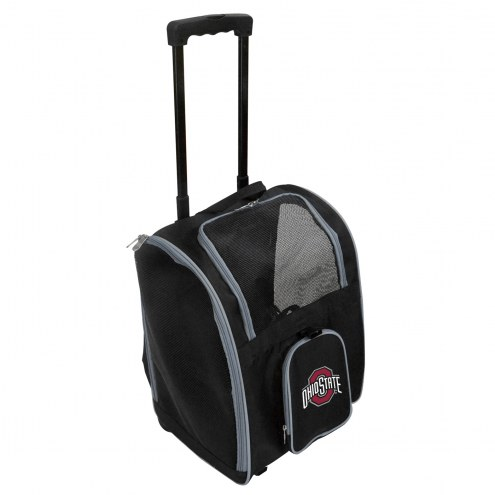 Ohio State Buckeyes Premium Pet Carrier with Wheels