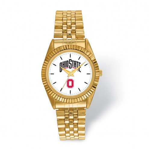 Ohio State Buckeyes Pro Gold Tone Gents Watch