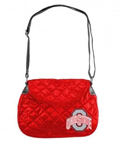 Ohio State Buckeyes Quilted Saddle Bag