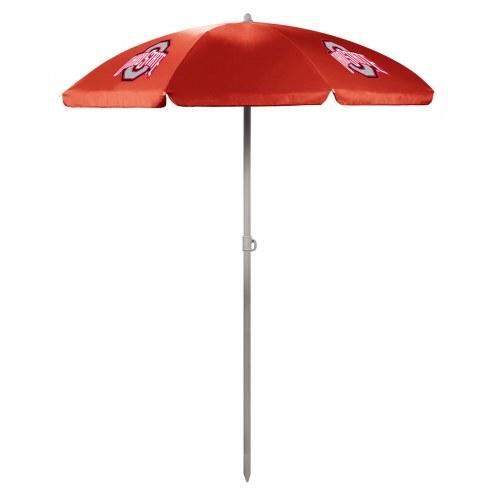 Ohio State Buckeyes Red Beach Umbrella