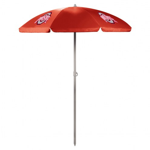 Ohio State Buckeyes Red Beach Umbrella