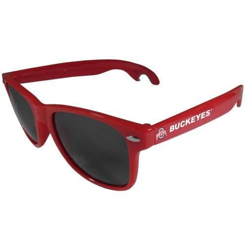 Ohio State Buckeyes Red Beachfarer Bottle Opener Sunglasses
