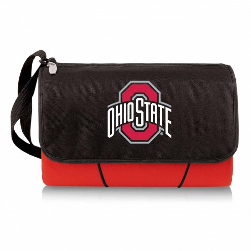 Ohio State Buckeyes Red Blanket Tote