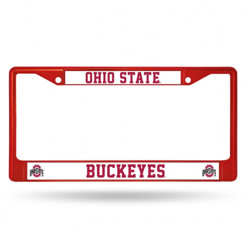 Ohio State Buckeyes Red Colored Chrome License Plate Frame