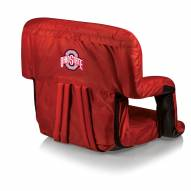 Ohio State Buckeyes Red Ventura Portable Outdoor Recliner