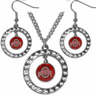 Ohio State Buckeyes Rhinestone Hoop Jewelry Set