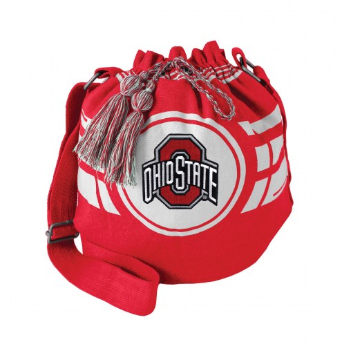 Ohio State Buckeyes Ripple Drawstring Bucket Bag