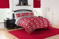 Ohio State Buckeyes Rotary Queen Bed in a Bag Set