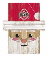 Ohio State Buckeyes Santa Ornament