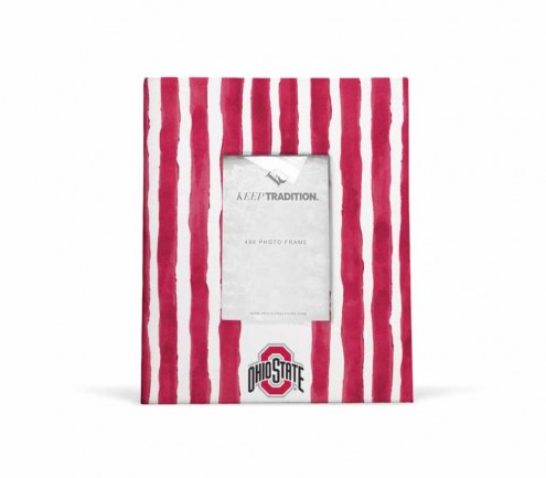 Ohio State Buckeyes School Stripes Picture Frame