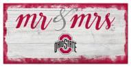 Ohio State Buckeyes Script Mr. & Mrs. Sign