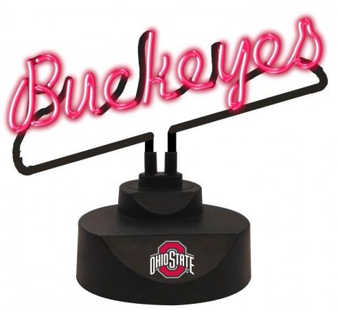 Ohio State Buckeyes Script Neon Desk Lamp