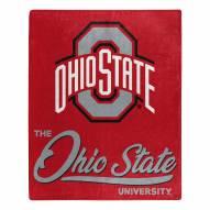 Ohio State Buckeyes Signature Raschel Throw Blanket