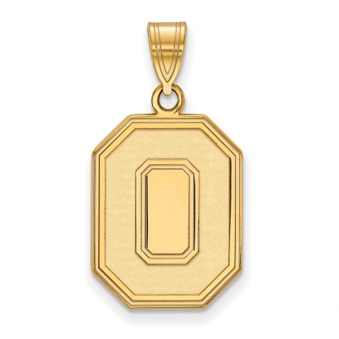 Ohio State Buckeyes Sterling Silver Gold Plated Large Pendant