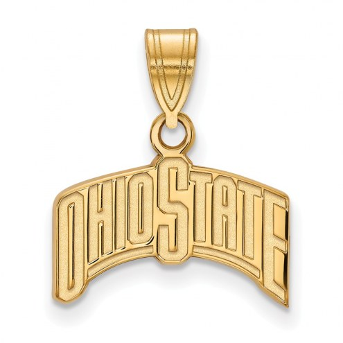 Ohio State Buckeyes Sterling Silver Gold Plated Medium Pendant