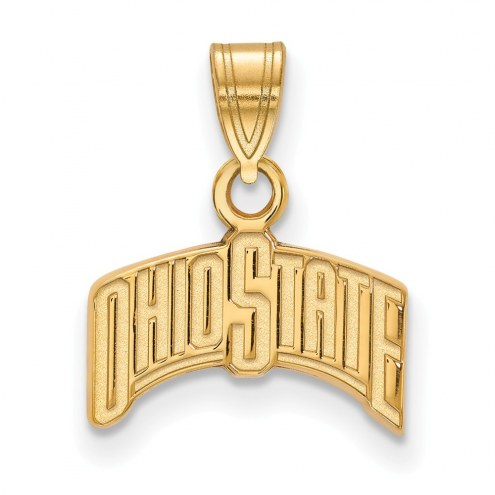 Ohio State Buckeyes Sterling Silver Gold Plated Small Pendant