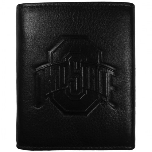 Ohio State Buckeyes Embossed Leather Tri-fold Wallet