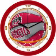 Ohio State Buckeyes Slam Dunk Wall Clock
